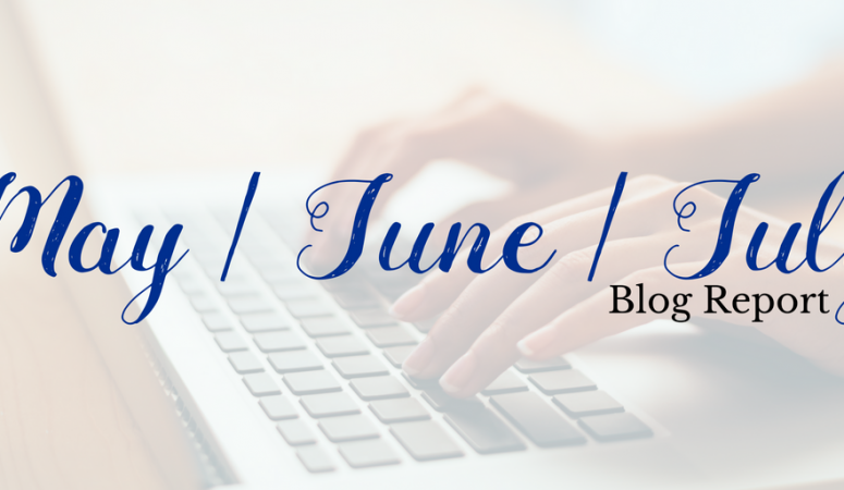 Behind the scenes of my blogging journey: Blog report and lessons learned (May, June & July)
