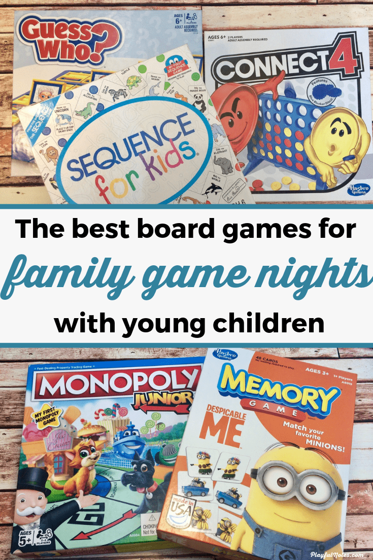 Discover the best board games for family game nights with toddlers and preschoolers! They are fun and engaging for the little ones and you will really enjoy them too! --- Fun board games for preschoolers | Educational games Family game night ideas | Family fun | Board games for kids #FamilyFun #FamilyLife #BoardGamesForKids