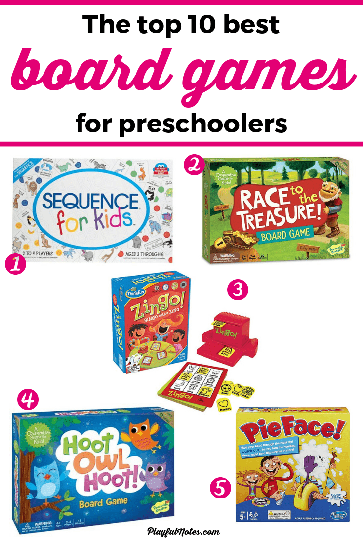 Check out this awesome list of the best board games for preschoolers! They are fun and engaging for the little ones and you will really enjoy them too! --- Fun board games for preschoolers | Educational games Family game night ideas | Family fun | Board games for kids #FamilyFun #FamilyLife #BoardGamesForKids