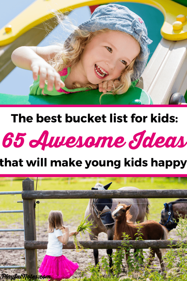 Discover this wonderful bucket list for kids under five and get inspiration for many awesome things to do with your child that will make both of you happy! --- Raising kids | Activity ideas for toddlers and preschoolers | Bucket list for toddlers | Bucket list for preschoolers #RaisingKids #BucketList #MomLife
