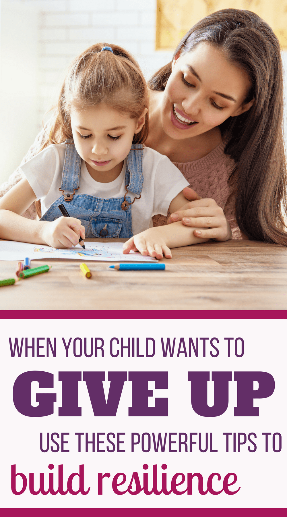 child gives up