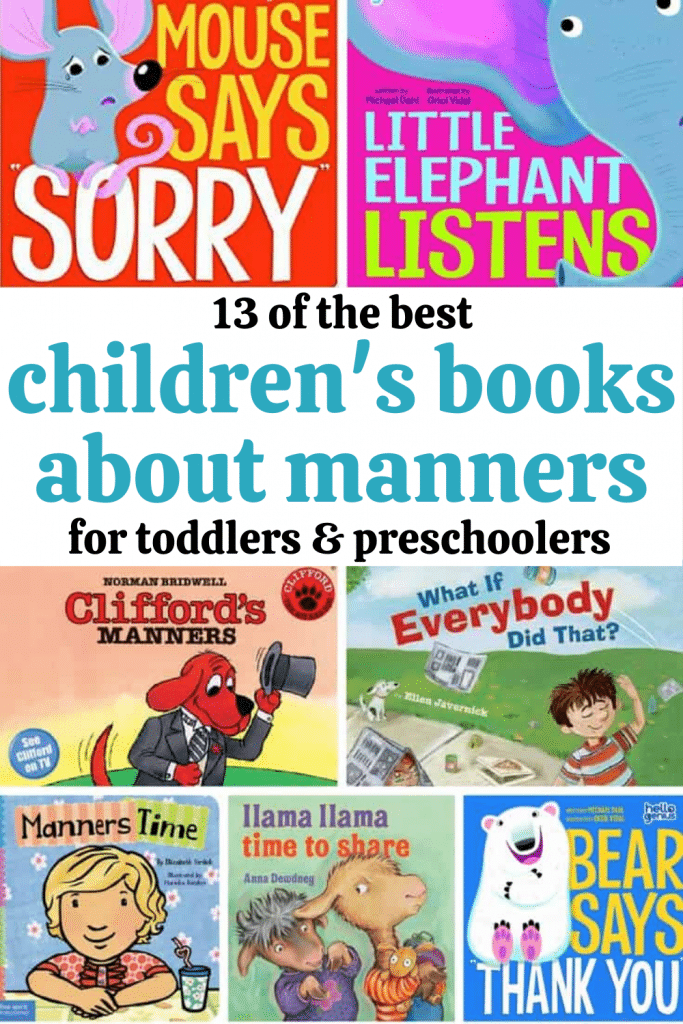 Children's books about manners: Discover a list of great books for teaching manners to toddlers and preschoolers! - Books about manners for kids