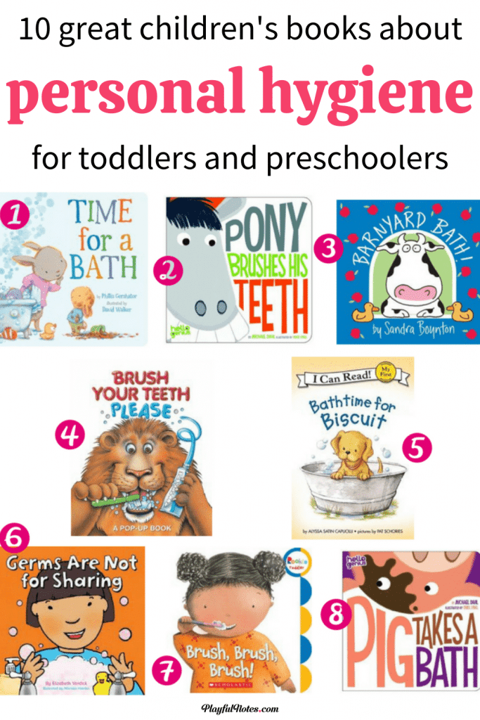Children's books about personal hygiene: Discover a great list of children's books for teaching toddlers and preschoolers about personal hygiene.