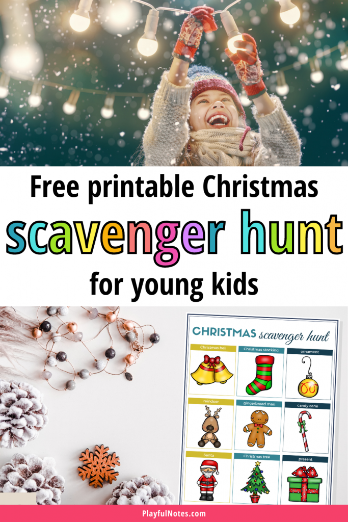 Download the free printable Christmas scavenger hunt and prepare an easy and fun Christmas activity to enjoy with your kids this year!