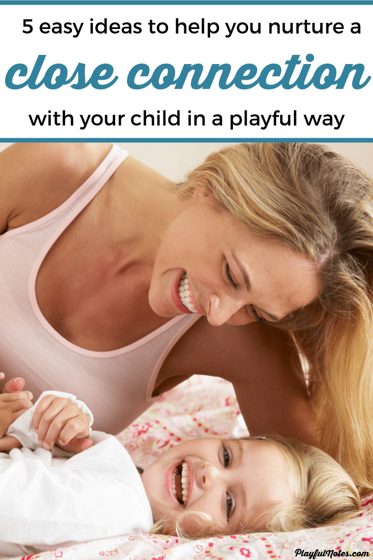 If you ever wondered how to connect with your kids through play even if you are not a very playful mom, here are 5 ideas that you can easily try and that will help you build a strong relationship with your child. --- Simple ideas to connect with kids | Activities for connecting with kids | Parenting tips | Motherhood tips | Positive parenting tips #ParentingTips