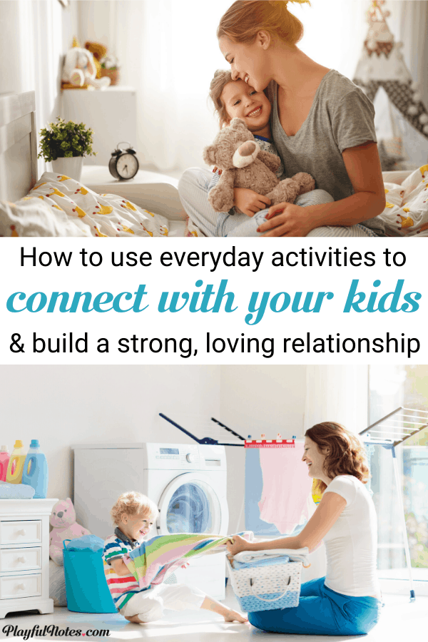Have you ever wondered how to connect with your child in the busy days when you feel overwhelmed by all the tasks on your to-do list? Here is a list of easy ideas to transform every moment of the day in a chance to connect with your child. --- Connecting with kids | Parenting tips