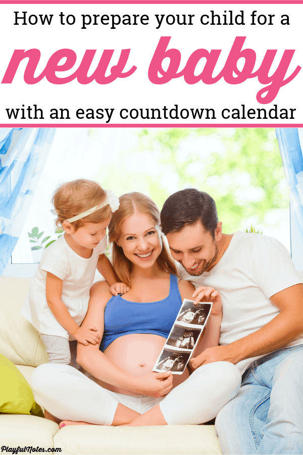 Discover an easy way to make the countdown to a new baby more special for your child and helpthem prepare for the arrival of a new family member. --- Countdown to baby for siblings | Second pregnancy tips