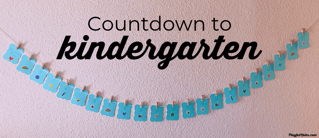 countdown to kindergarten - back to school ideas