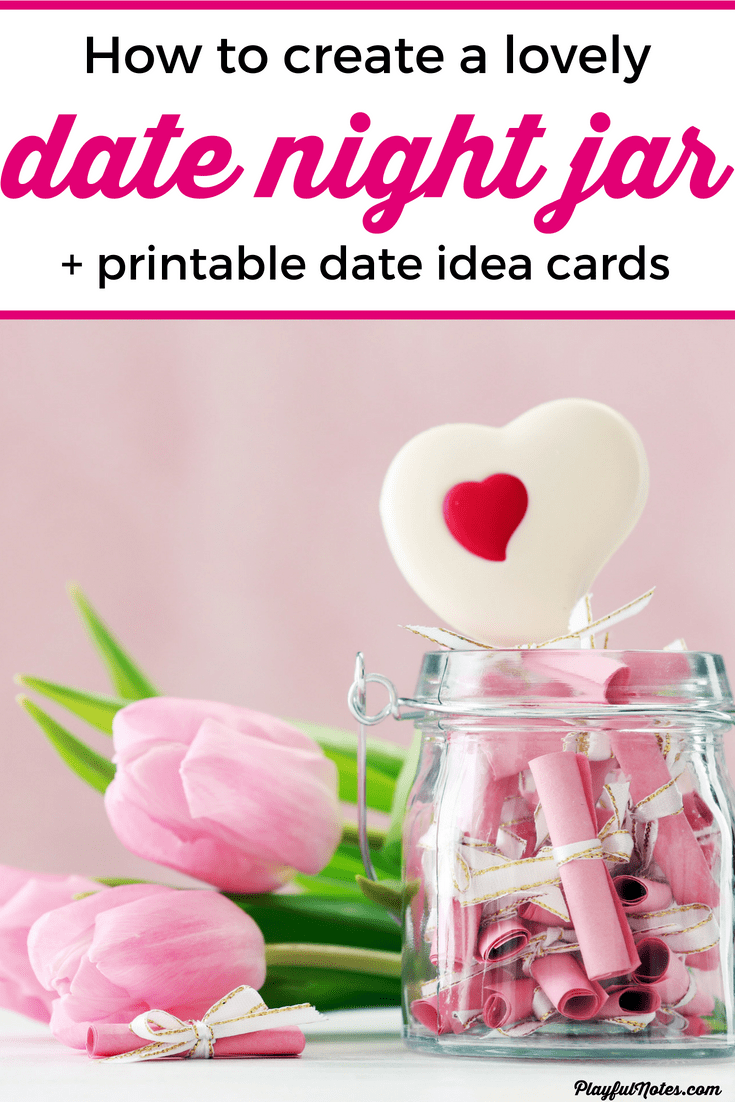 Check out these lovely date night jar ideas that will help you plan many happy dates and enjoy more quality time with your loved one! --- Date night jar printable   DIY date night jar   date ideas for couples #Marriage #Relationships