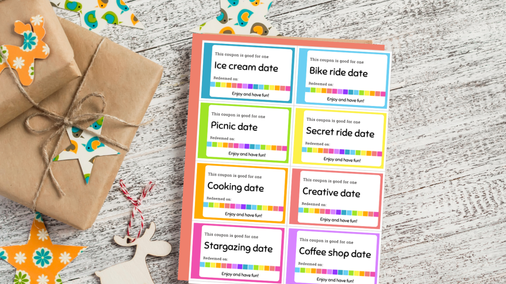 coupon book for kids