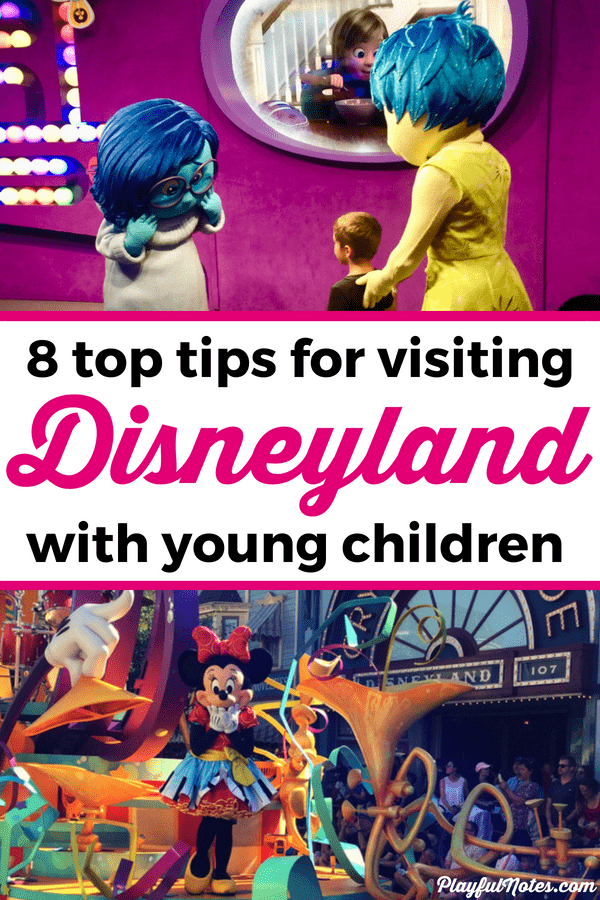 Check out the best tips for visiting Disneyland with toddlers and preschoolers! These tips will make your trip easier and you'll get to enjoy the visit too! --- Disneyland with kids | Disneyland tips | Disney ideas for young kids #Disneyland #FamilyTravel #DisneylandTips #TravelingWithKids