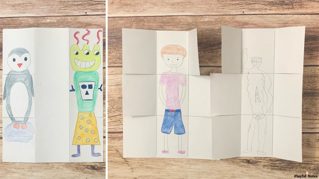 drawing games for kids exquisite corpse game