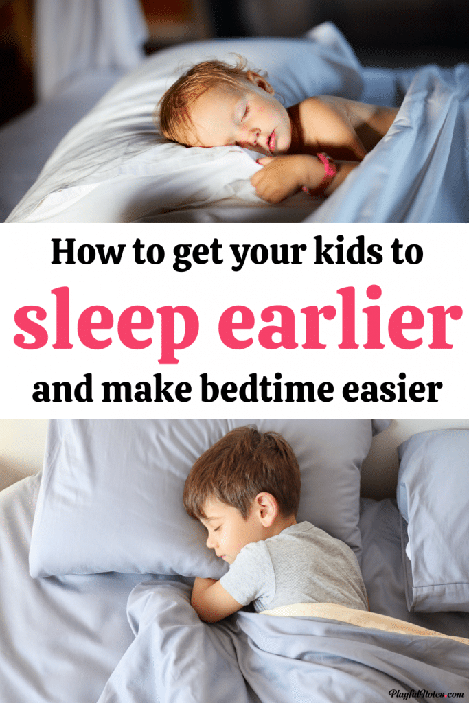Switching to an earlier bedtime will not only have a positive impact on your kids, but will also make bedtime easier and more peaceful for the whole family. Here is how to get kids to sleep earlier and enjoy more peaceful evenings.