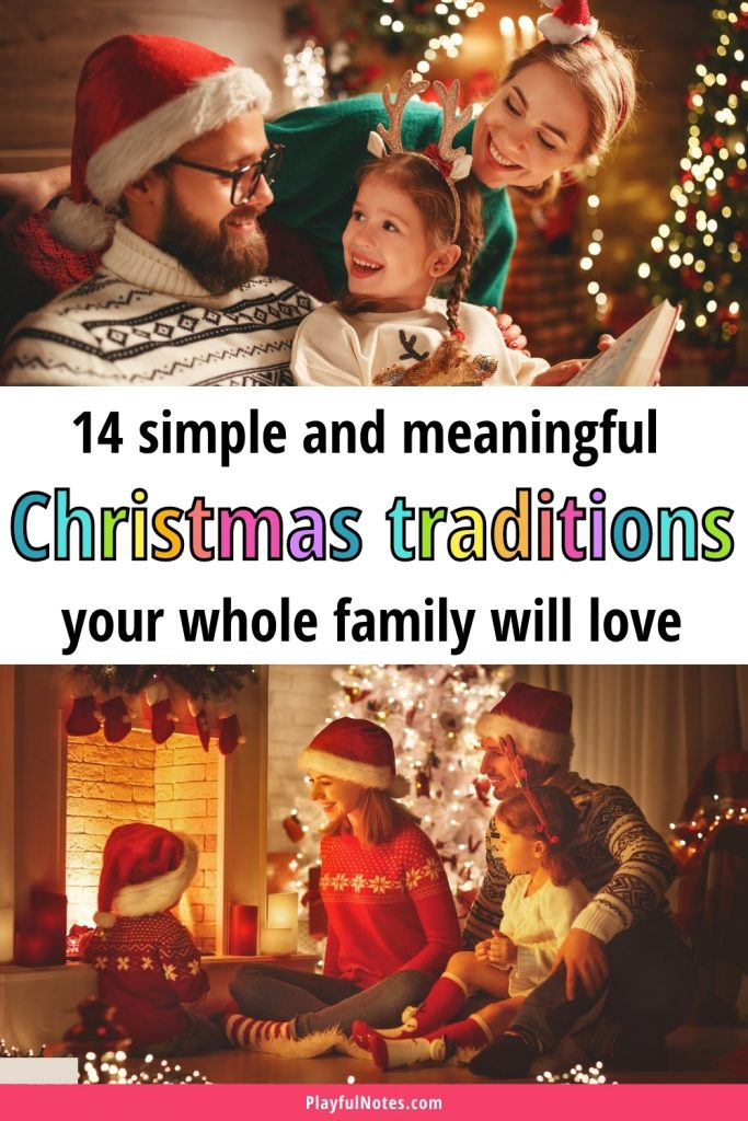 Discover 14 wonderful Christmas traditions to start with your kids this year! Use this ideas to get closer to your kids and enjoy them even more this holiday season!
