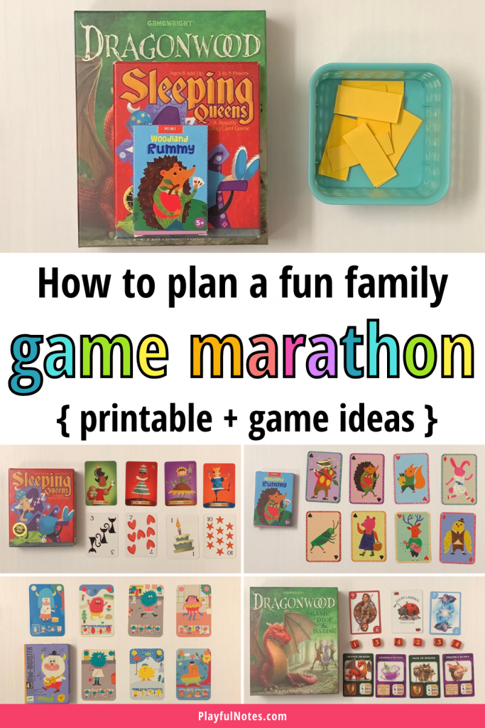 If you are looking for an easy and fun family activity idea, try a family game marathon! You can quickly set it up using your favorite games and enjoy a great time with your kids!