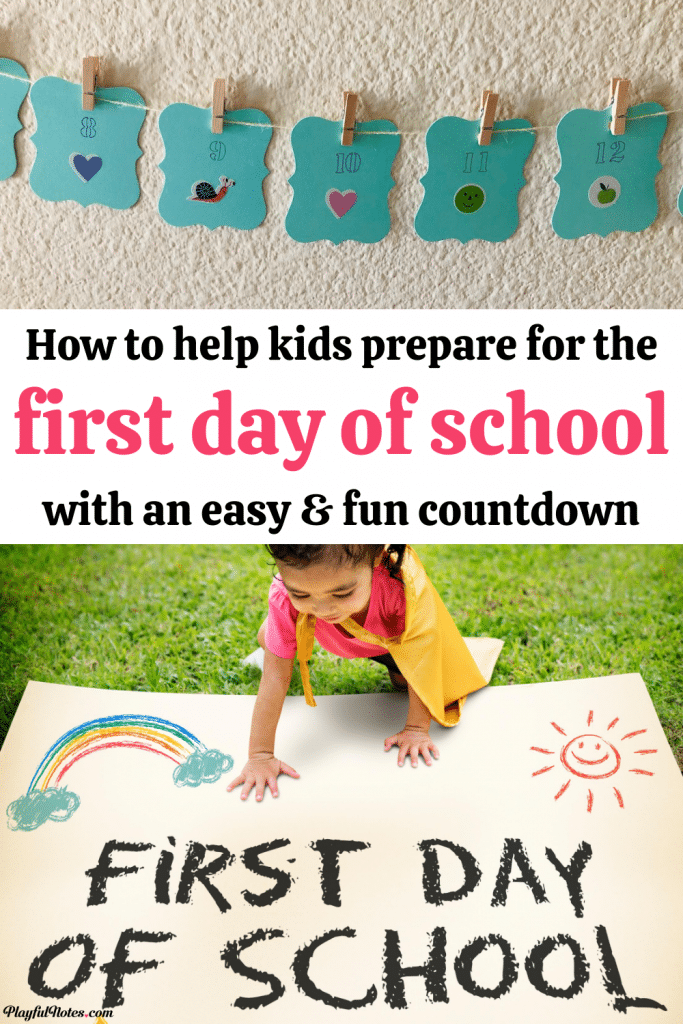 The first day of school is an important milestone for every child! Help your child prepare for school with an easy and fun idea: a countdown to the first day of school! - Back to school ideas