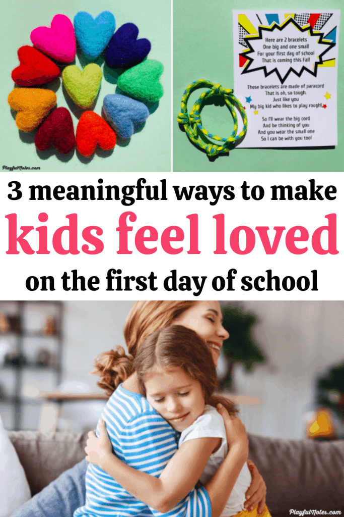 The first day of school can bring a lot of strong emotions for kids. Here are 3 lovely and meaningful first day of school gifts that will make them feel loved and calm their fears and worries!