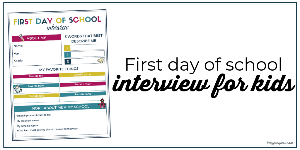 first day of school traditions - interview for kids