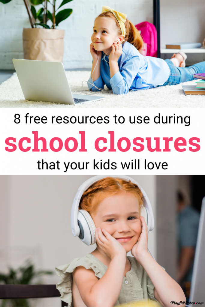 8 free resources to help you during school closures: activities, teaching ideas and fun apps for kids.
