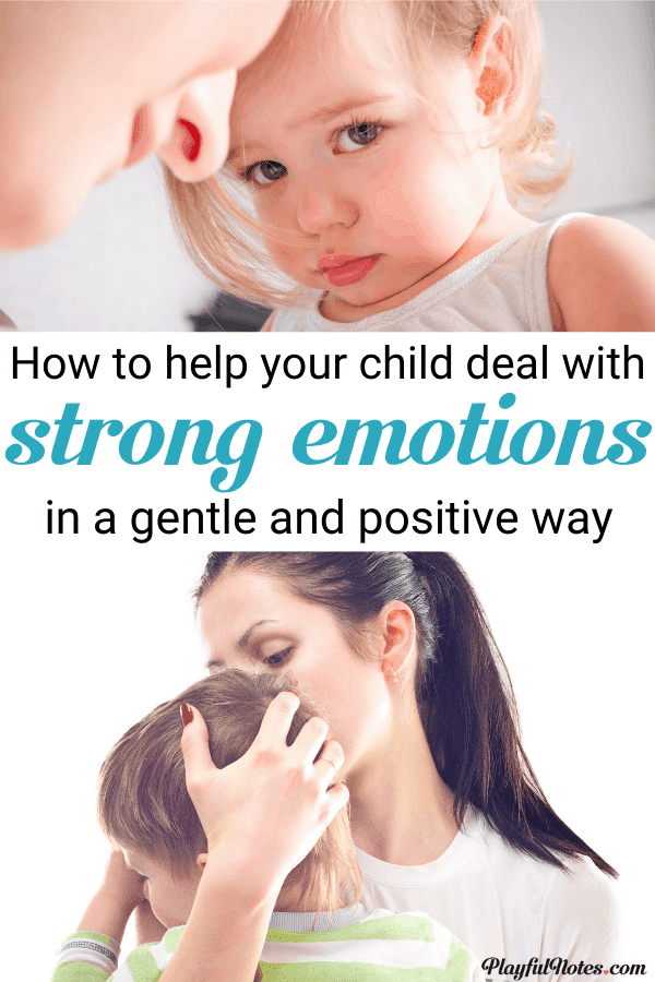 Make positive discipline easier by teaching kids how to manage their emotions! If you are looking for solutions on how to help young kids deal with strong emotions, here are some easy tips that can make a big difference! --- Gentle parenting tips