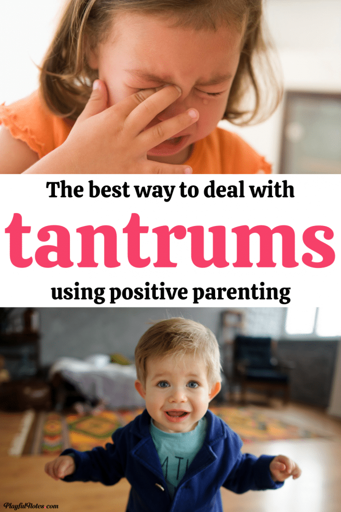 How to handle your child's tantrums in a gentle and positive way: A list with great tips to help you deal with tantrums easier and prevent them from bringing chaos into your home.
