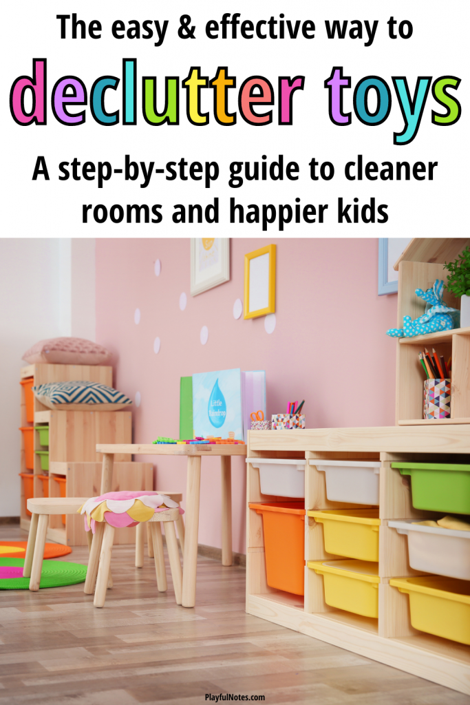 How to declutter toys: This step-by-step guide will help you organize toys and keep the playroom clutter under control, so you can enjoy a cleaner house and more independent play.