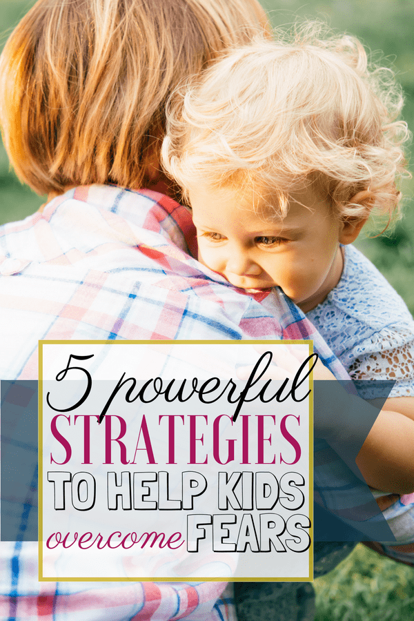 If your child is dealing with fears, here are 4 powerful tools that you can use to help them. They are easy to put into practice and they can make a huge difference when kids are feeling overwhelmed by anxiety. | Anxiety in children #AnxietyInKids #PositiveParenting