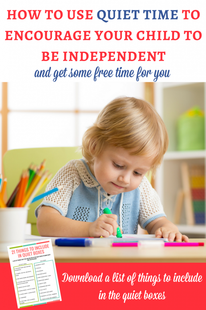 Quiet time for kids: Quiet time is the perfect way to encourage independent play and also get some free moments to focus on your tasks. And you can implement it in a playful way! | Quiet time ideas | Quiet boxes for kids | Busy boxes for kids | Independent play for toddlers and preschoolers