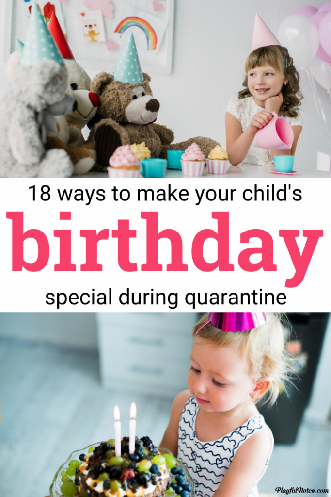 If you're preparing to celebrate your child's birthday during lockdown, here are 18 ideas for lovely at-home celebrations that will make your child feel special! --- Birthday ideas for kids during social distancing