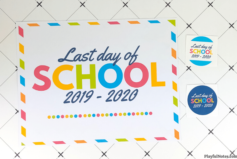 printable last day of school sign 2020