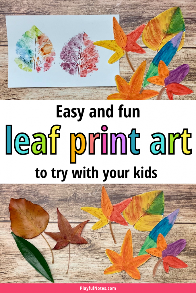 This leaf print art activity is an easy and creative way to play with leaves that you can quickly prepare after a fall walk.