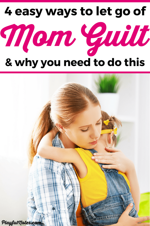 Do you struggle with feeling mom guilt? I did too until I realized that mom guilt is only making things worse and stealing the joy in motherhood! Here are some great tips to help you let go of mom guilt and start focusing on positive solutions for your struggles! --- Motherhood tips | Advice for moms | Working mom guilt | Stay at home mom guilt | Tips to overcome mom guilt #MotherhoodTips