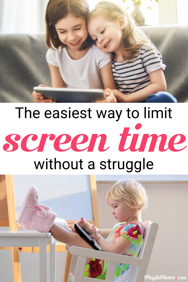 If you want to put an end to screen-time battles and limit screen-time without power struggles, here is an easy idea that works wonders in teaching kids how to manage their own screen-time!