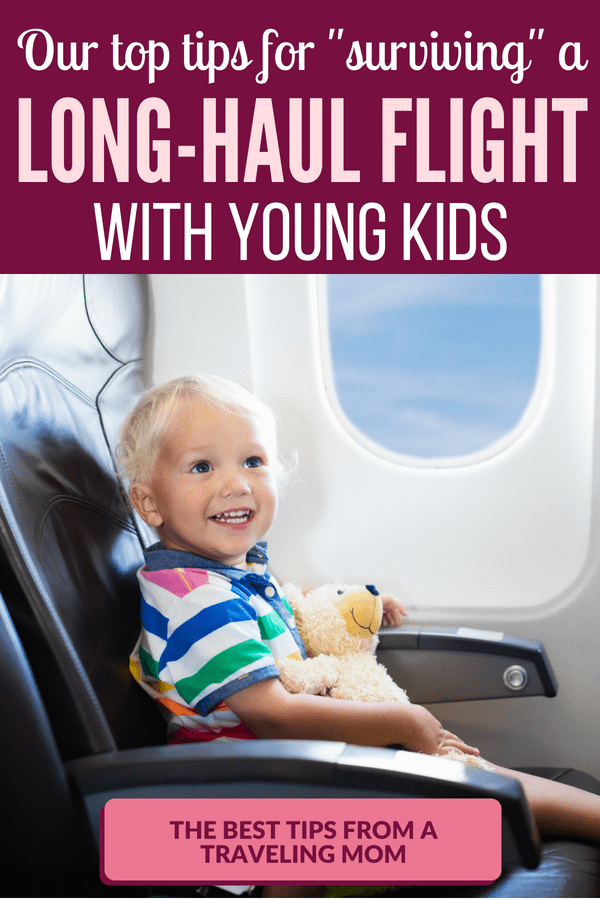 Are you preparing for a long-haul flight with kids? These tips can make a huge difference! --- Tips for flying with toddlers and preschoolers | How to survive a long flight with kids | Things to do when flying with kids #FamilyTravel #TravelingWithKids #FlightWithKids #FamilyTrips