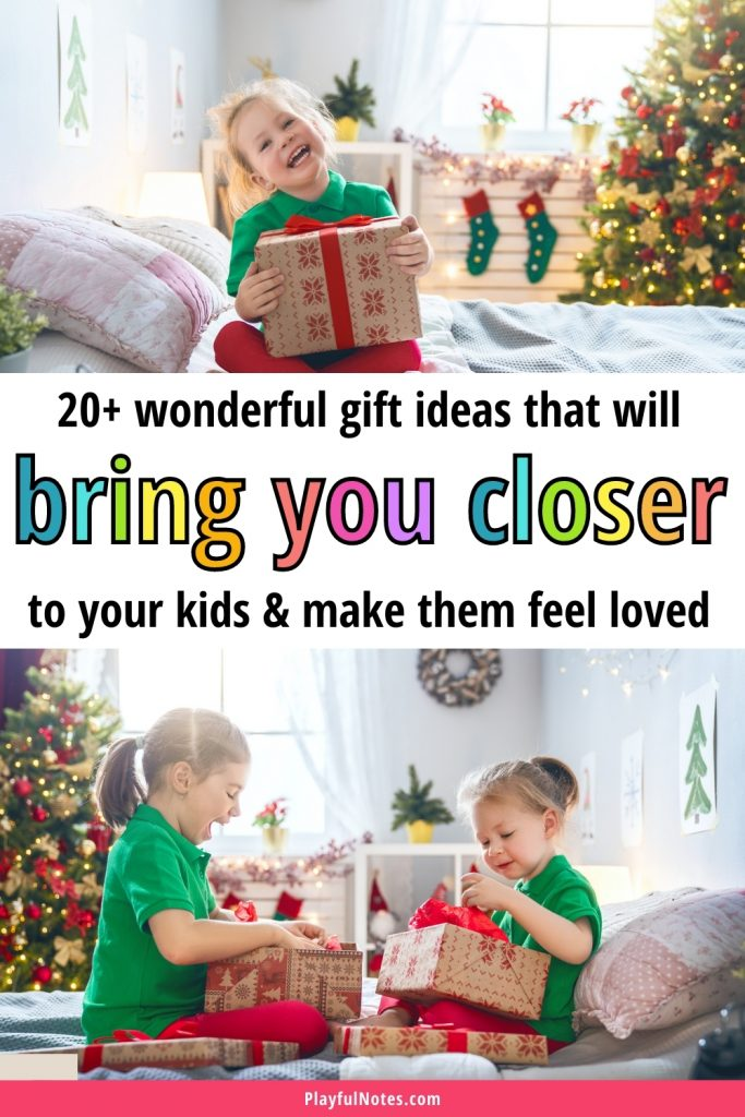 Discover 20+ awesome gift ideas for kids  that will help you get closer to your kids, spend more quality family time, and have fun together!