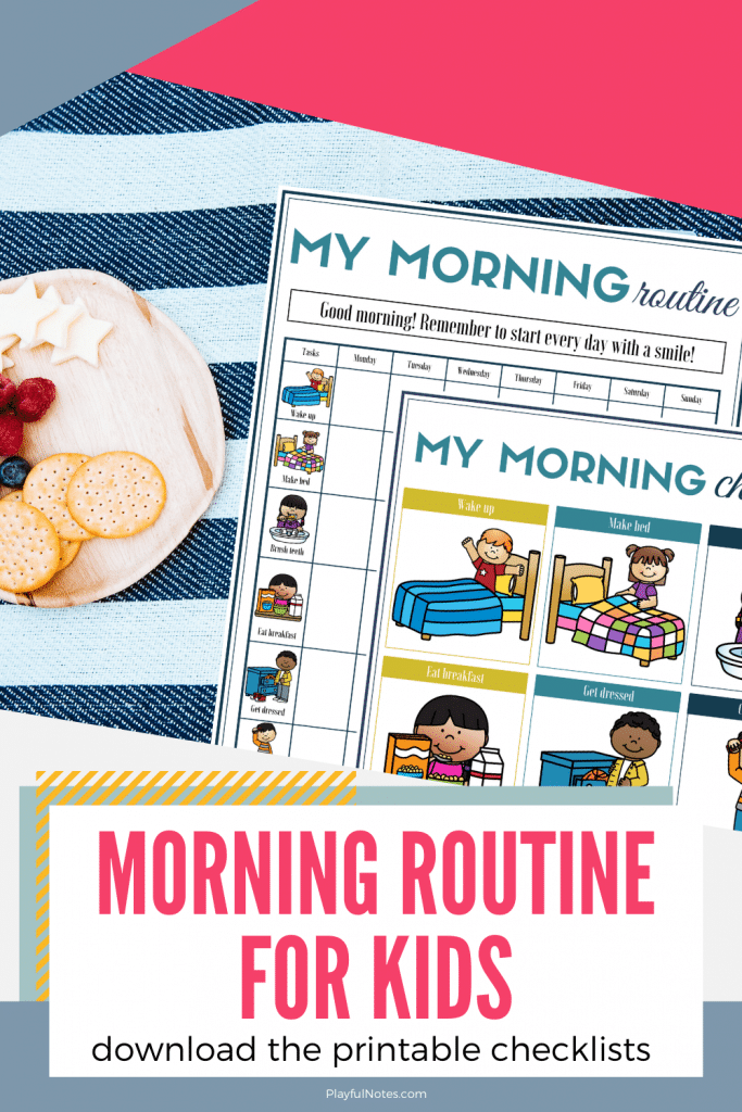 printable morning checklist for kids
