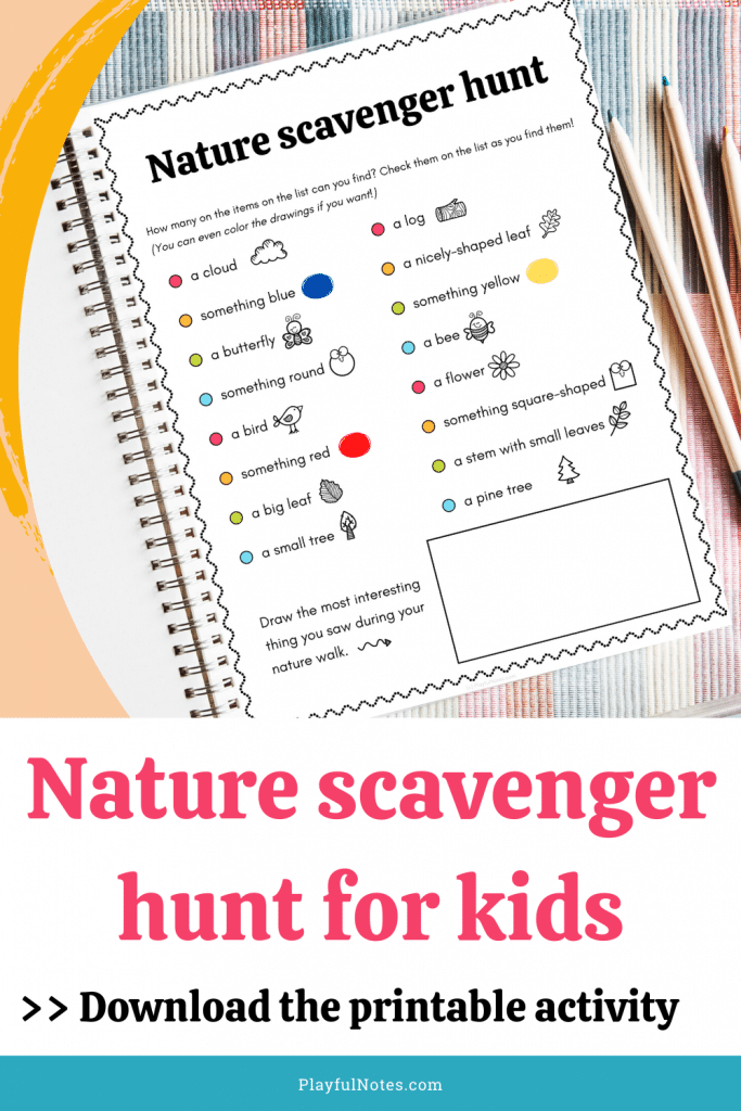Nature scavenger hunt for kids: If you want to encourage your kids to explore nature, download the printable scavenger hunt and enjoy this activity with your child! - Children activities
