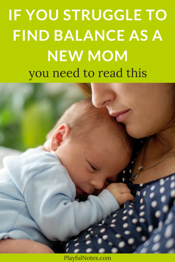 Tips for new moms: I've often read or heard new mom advice about finding balance after birth. And I needed to write this, for every mom who struggles after having a baby. In most cases, there is no such thing as balance for new moms. And here is why. | New moms advice | Baby tips #NewMom