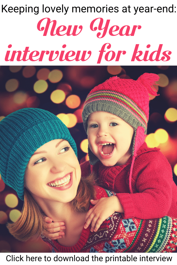 A New Year interview for kids is a wonderful way to capture precious memories! Download our printable New Year interview and start this lovely tradition with your children! --- New Year interview for children | Traditions for New Year