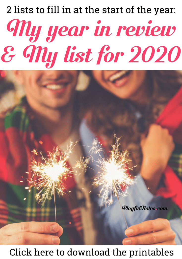 Download the printable Year in Review and Goal List for the next year and start planning an amazing year! These templates are a great way to look back at 2018 and set your goals for 2020! --- New Year printables | Printable goal setting | Year in review #NewYear #printables