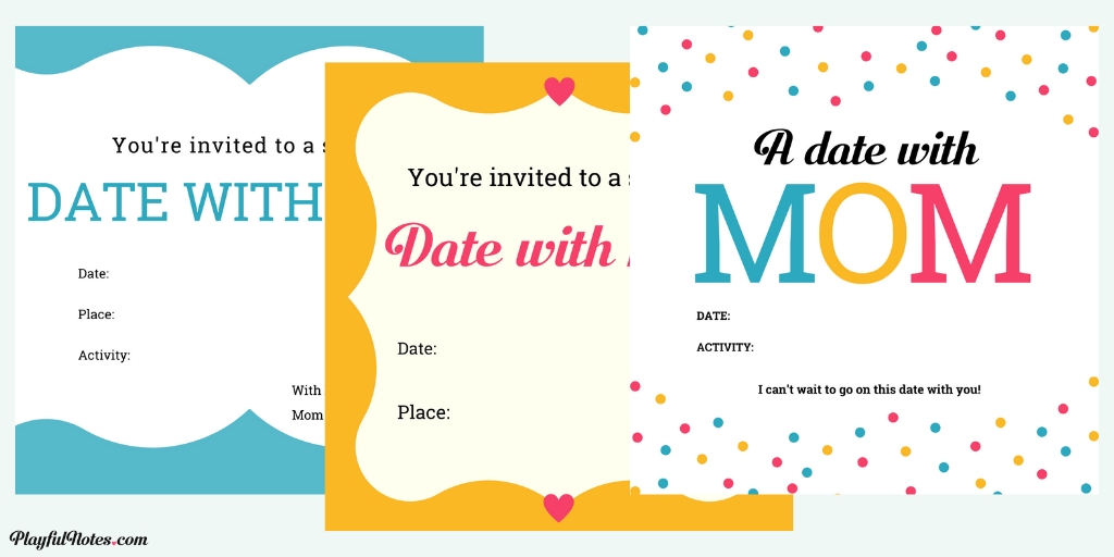 mom-child date invitations