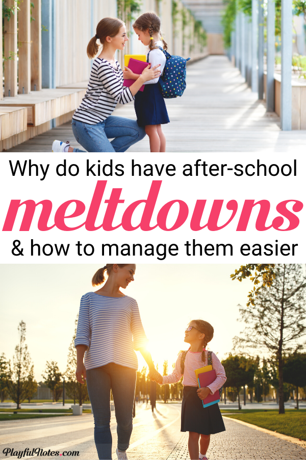 Discover the reason why your child has after school meltdowns and find easy ways to prevent them! --- Positive discipline | Tantrums after school | Gentle parenting tips | Raising kids