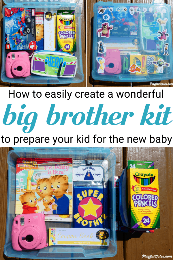 Make your child feel special after the birth of a new baby with a wonderful big brother kit! Get easy and lovely gift ideas for the new big brother and prepare a surprise that will make them happy! --- What to put in a DIY big brother kit | Gift ideas