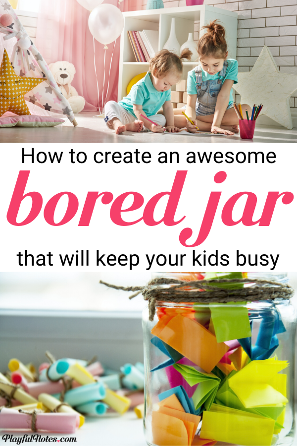 Do you want to have some inspiration every time your child gets bored? Here is how to create a bored jar for young kids and enjoy a lot of activity ideas! --- Bored jar activity ideas