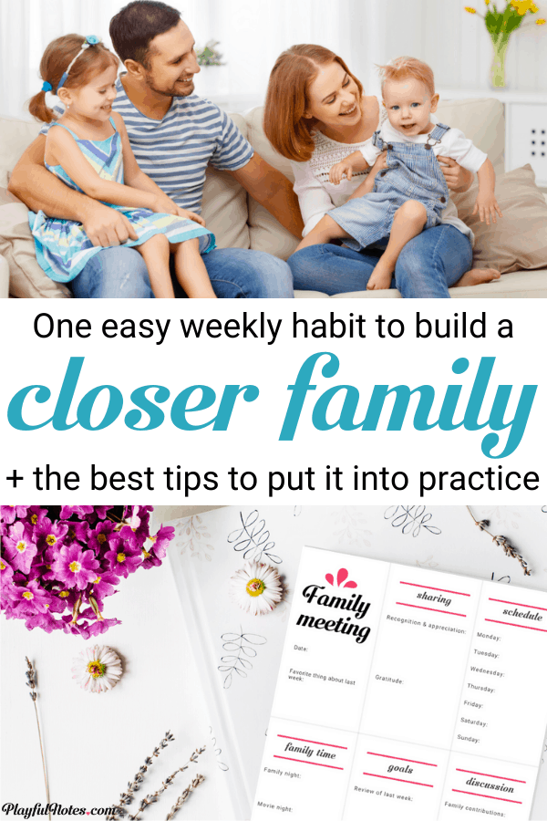 Holding a weekly family meeting will help you build a stronger family, feel more connected, and overcome challenges together! Discover the best ideas for transforming a family meeting into a weekly habit and get the printable family meeting agenda! --- Family life | Template for family meeting agenda