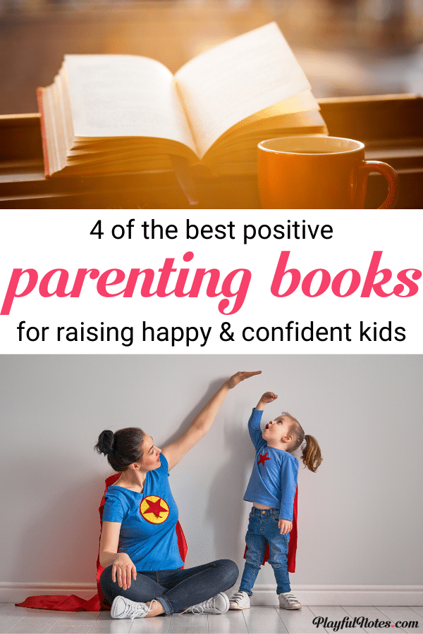 These 4 positive parenting books will make parenting easier and help you raise happy and confident kids! They are packed with practical tips that you can start implementing right away and can make a big difference in your parenting! --- Parenting tips