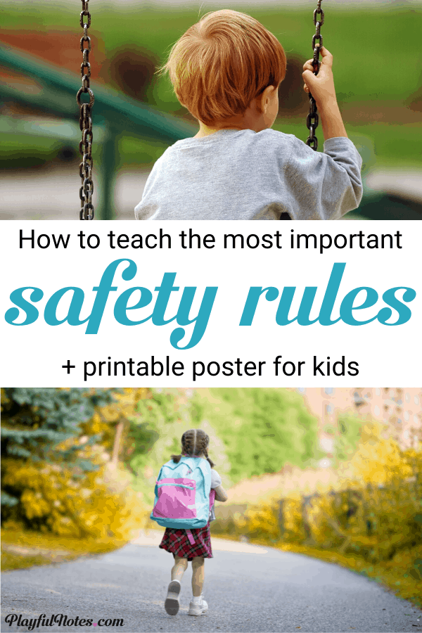 This list of 8 critical safety rules for kids can make a big difference in teaching children how to stay safe. Discover easy ways to teach kids about safety and download a printable list of rules for them to learn. --- Free printable safety rules for kids | Stranger danger | Tricky people and unsafe situations | Parenting tips