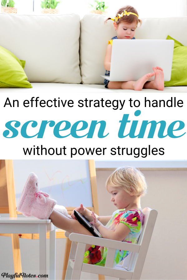 Have you ever wondered how to limit screen-time without a struggle? These 5 easy rules helped us handle technology without power struggles and find a healthy balance for screen time. --- Limiting screen time for kids | Screen time rules | Parenting tips