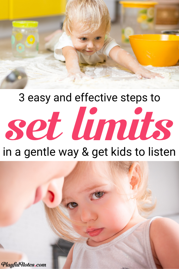 If you are struggling with how to set limits with your kids, here is a 3 step plan that can help you do this in an effective and gentle way!  --- Gentle parenting tips | How to handle tantrums