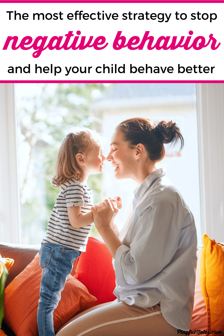 Are you dealing with your child's negative behavior and searching for a way to stop it? Here is gentle and effective strategy that will help you stop the negative behavior and teach your child to behave better using a positive approach! --- Positive discipline | Gentle parenting tips | Motherhood tips | Positive parenting #Parenting #PositiveParenting